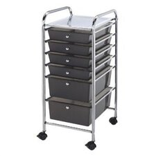 Blue Hills Studio Storage Cart with Six Drawers