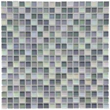 "Sierra 11-3/4"" x 11-3/4"" Polished Glass Mini Mosaic in Harmony"