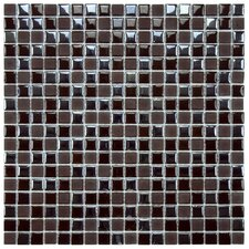 "Posh 11-3/4"" x 11-3/4"" Pixie Porcelain Mosaic Wall Tile in Brown"