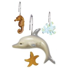 Seascape Shower Curtain Hooks (Set of 12)