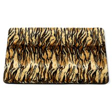 "Animal Instincts ""Tiger"" Faux Fur Bath Mat"