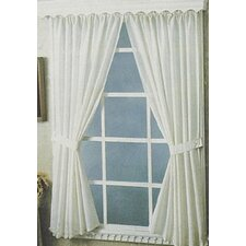 Bathroom Rod Pocket Curtain Panel Pair (Set of 2)