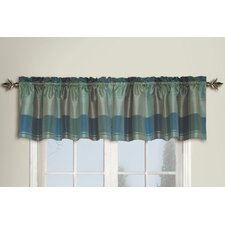 Plaid Rod Pocket Ruffled Curtain Valance
