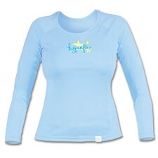 Long Sleeve Water Tee in Sky