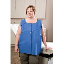 "36"" x 30"" Exam Capes Amplewear® Vest, Nonwoven, with Snaps in Blue / White"