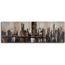 ''Chocolate City Skyline'' Hand Painted Canvas Art