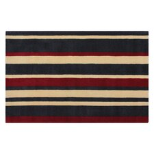 Kerins Red / Grey Striped Rug