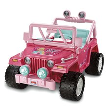 Power Wheels 12V Barbie Jammin' Jeep Wrangler