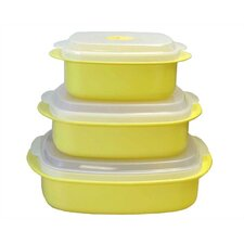 Calypso Basics Microwave Steamer Set in Lemon