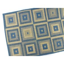 Pyramid Blocks Blue Rug