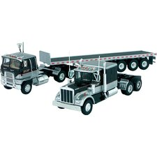 Corgi International Transtar COE, Kenworth W925 Truck and Lowboy Trailer