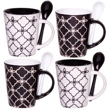 Link 10 oz. Mug and Spoon (Set of 4)