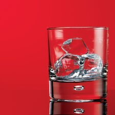 Red Series 10 oz. Bubble Double Old Fashioned Glass (Set of 4)