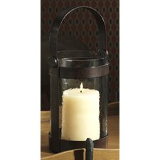 Equestrian  Wrought Iron and Glass Lantern