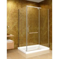 Sliding Door Shower Enclosure with Shower Base