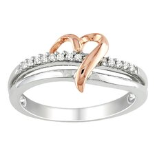 Two Tone Gold Round Cut Diamond Ring