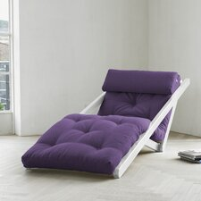 Fresh Futon Figo with White Frame in Purple