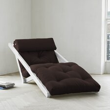 Fresh Futon Figo with White Frame in Chocolate