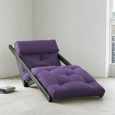 Fresh Futon Figo with Wenge Frame in Purple