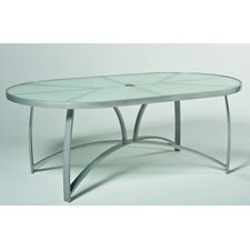 Wyatt Oval Umbrella Dining Table