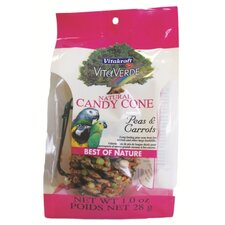 Natural Candy Cone-Pea and Carrt Bird Treat