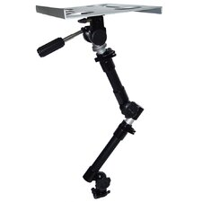 Car Holder for iPad 3-Way Tripod Head Dual Arm in Silver Tray