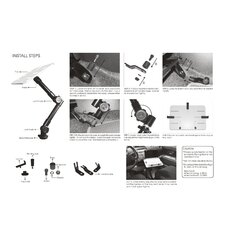 Car Holder for iPad Clamping Ball Joint Head Dual Arm