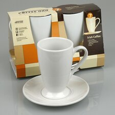 Coffee Bar 10 oz. Irish Coffee Cup and Saucer (Set of 2)