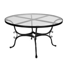 "Ashbury 54"" Round Glass Dining Table"