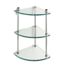 Universal Triple Corner Glass Shelf