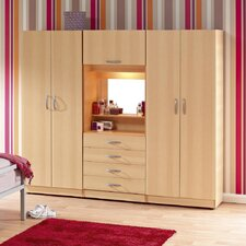 Budapest 4 Door Wardrobe with Drawers