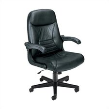 "Executive ""MobileArm"" Mid-Back Leather Office Chair"