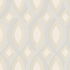 Candice Olson Dimensional Surfaces Oval and Diamond Geometric Wallpaper