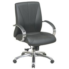 High-Back ProLine II Deluxe Mid-Back Leather Executive Chair