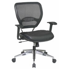 Space Seating Mid-Back Leather AirGrid Back Task Chair