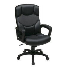 Work Smart Leather Executive / Conference Chair