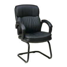 Eco Leather Back Visitors Chair with Padded Arms