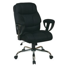 Mesh Executive Office Chair with Padded Height Adjustable Arms