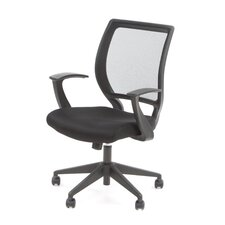 Screen Back Mesh Seat Task Chair with Fixed Designer Arms