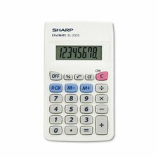 EL-233SB Handheld Calculator, Eight-Digit LCD