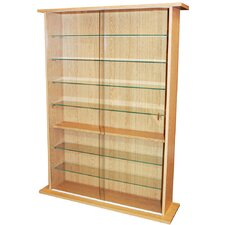 Large Collectable Display Cabinet / CD DVD Storage Shelves