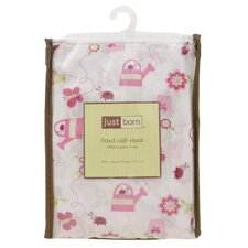 Just Born Beautiful Garden Crib Sheet