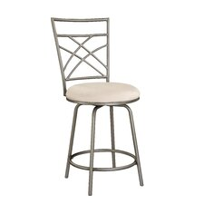 Cafe Counter Stool in Distressed Antique Gold with Pewter Accent