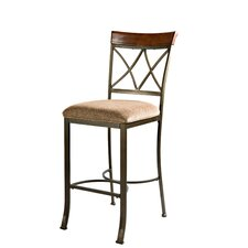 "Cafe Hamilton 29"" Barstool in Brushed Faux Medium Cherry"