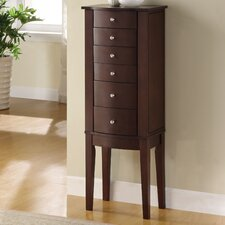 Jewelry Armoire in Merlot