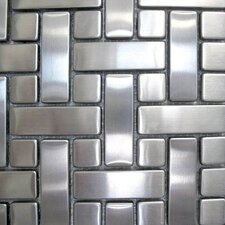 "Metal 10.25"" x 10.25"" Mosaic in Basket Weave"