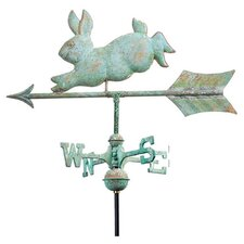 Cottage Weathervane Rabbit in Blue Verde