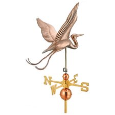Signature Size Large Blue Heron Weathervane in Polished