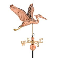 Heron Weathervane with Roof Mount