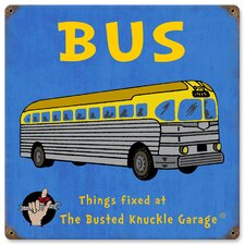 Busted Knuckle Garage Kid's Vintage Bus Sign
